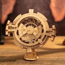 3D Wooden Mechanical Transmission Model Creative Toy Password Box Jewelry Box Perpetual Calendar Pendulum Birthday Gift