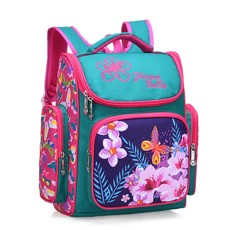2020 Cute Flower Printing Schoolbags New Primary School Bags For Girls Backpack Kids Bookbag Children's School Backpack