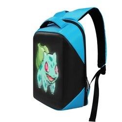 Женский рюкзак Эдисона, светодиодный рюкзак серии, Сумка с дисплеем, умный wifi, версия приложения, управление светом, многофункциональные Ко...