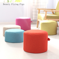 Direct sales new fabrics sitting piers linen futon mat living room home washable thickening round heightening tatami cushion