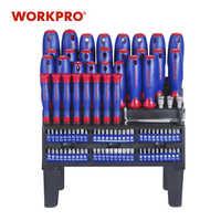 Workpro 100 pc chave de fenda conjunto com rack casa conjunto de ferramentas precisão chaves fenda para o telefone parafuso driver