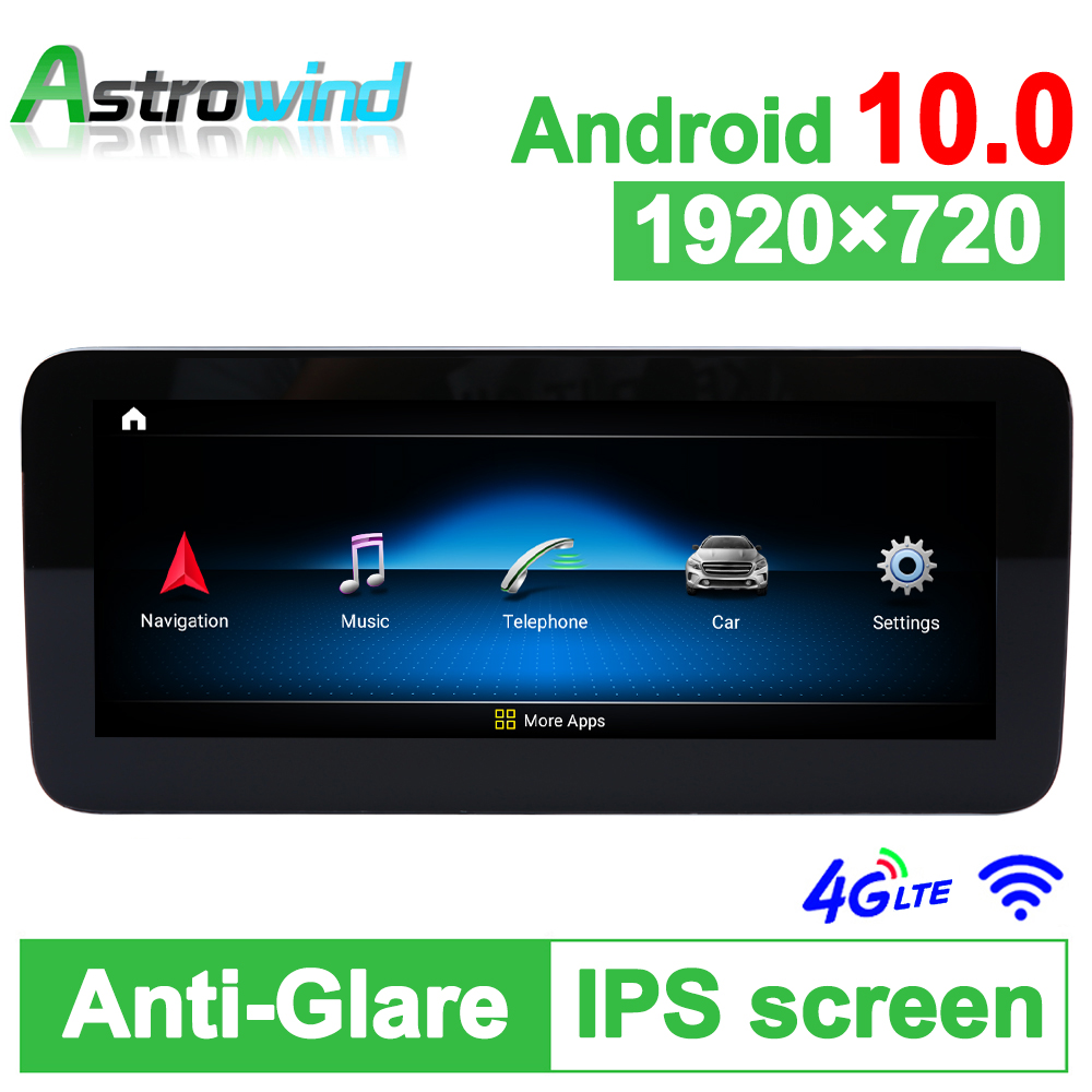D-1207,10.25 inch 8 Core Android 10.0 System Car <font><b>GPS</b></font> Navigation Media Stereo <font><b>Radio</b></font> For Mercedes-Benz C <font><b>W204</b></font> 2007 2008 2009 2010 image