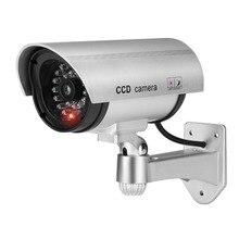 Jooan屋外ダミーカメラ監視ワイヤレスledライト偽カメラホームcctvセキュリティカメラ模擬ビデオ監視