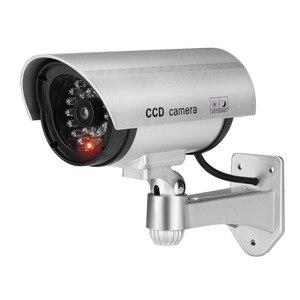 Image 1 - Jooan屋外ダミーカメラ監視ワイヤレスledライト偽カメラホームcctvセキュリティカメラ模擬ビデオ監視