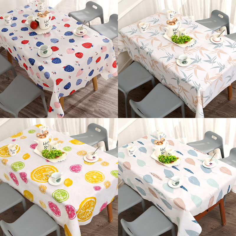 European Waterproof Oil-proof Tablecloth Washless Tablecloth Rectangular Restaurant Tablecloth Tea Table Mat Plastic Table Cloth