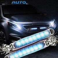 1 par de luzes diurnas do carro não há necessidade de fonte de alimentação externa led vento alimentado luzes do veículo com ventilador rotação lâmpada do carro