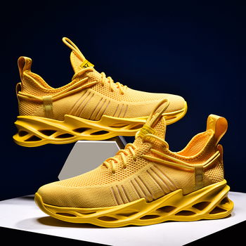 New Running Shoes for Men Lightweight Breathable Man Sneakers Outdoor Cushioning Athletic Sport Jogging Shoes Zapatillas Size46 2019 popular breathable men luxury brand trail running shoe plus size46 athletic sneakers for men jogging shoe sneakers for men