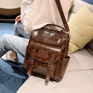 Image 2 - Wysokiej jakości plecak w stylu Retro kobiet plecak torba na ramię londyn styl nastoletnia dziewczyna tornister Mochilas kobiet plecak studencki