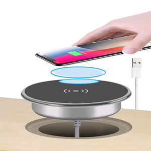 Image 1 - Fast Wireless Charger For iPhone11 Pro Max Xs XR X 8 Plus Phone Charger Furniture Office Desk Mounted Embedded Charging Pad