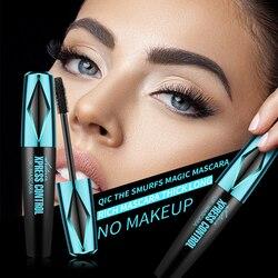 4D Silk Fiber Eyelash Mascara Waterproof Curling Eyelashes Thick Lengthening Extension Cosmetic Makeup TSLM1