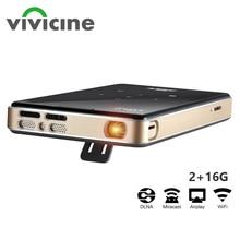 Vivicine prend en charge le Mini projecteur 4K, batterie 4000mAh, prend en charge le projecteur vidéo de projecteur Mobile portable Miracast Airplay