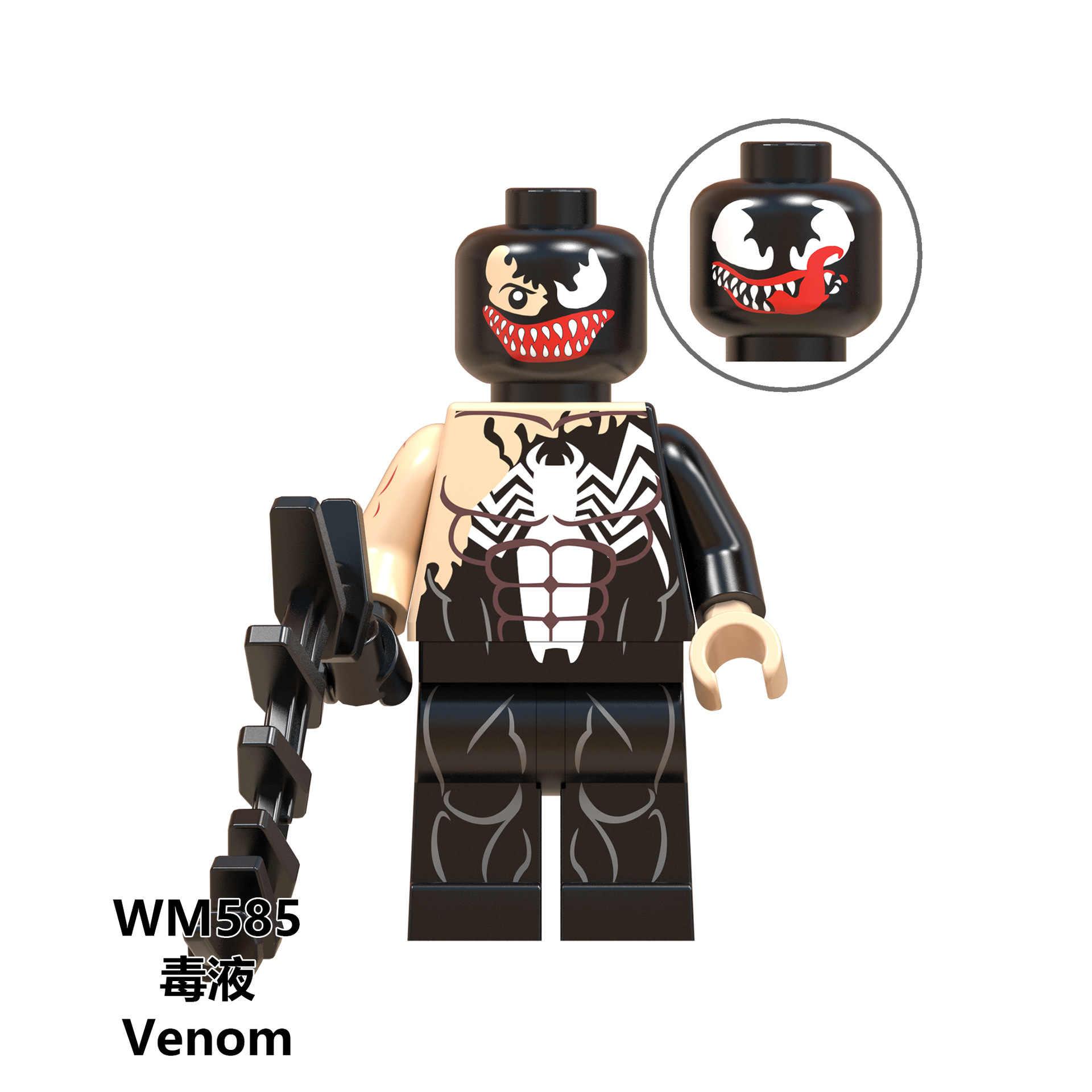 สำหรับ Legoing Marvel Super Heroes VENOM Wolverine Deadpool Iron Man กัปตันอเมริกา Spider-Man Figures Building Block ของเล่น Legoings