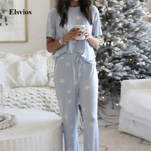 Casual Soft Two Piece Women Sets Elegant O Neck Tops And Pan