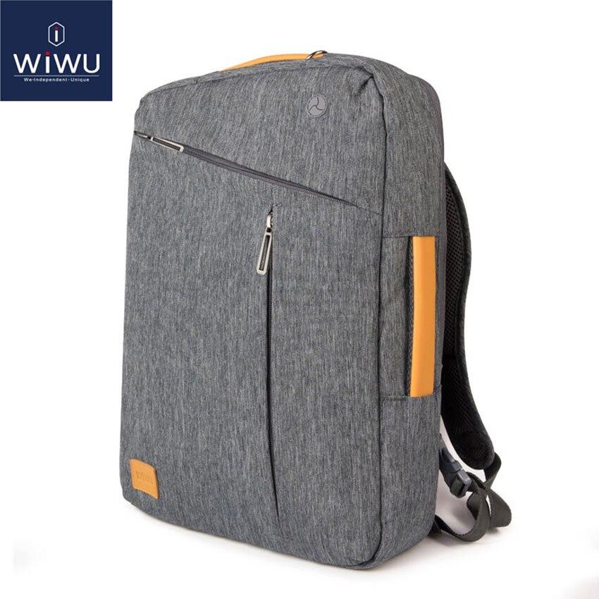 2020 WIWU Laptop Backpack 17.3 16 15.6 15.4 14 Waterproof Backpack Leather Bag for Macbook Pro 15 16 Men's Backpack Laptop Bag(China)