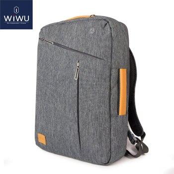 2019 WIWU рюкзак для ноутбука 17,3 15,6 15,4 14 водонепроницаемый рюкзак кожаная сумка для Macbook Pro 15 16 мужской рюкзак сумка для ноутбука