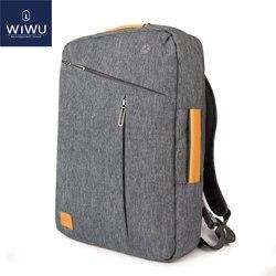 2019 WIWU كمبيوتر محمول 17.3 15.6 15.4 14 للماء على ظهره جلد شنطة لحمل macbook برو 15 16 الرجال حقيبة ظهر للاب توب