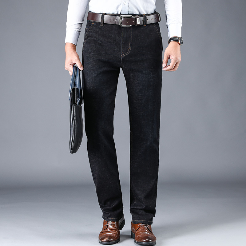 2020 new high quality straight jeans business casual men's jeans