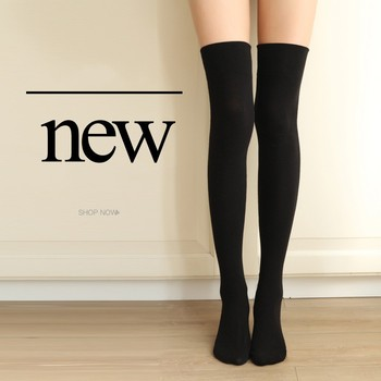 Women Socks Stockings Warm Thigh High Over the Knee Socks Long Cotton Stockings medias Sexy Stockings 4 Colors image
