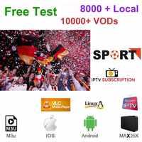 Allemand al turco royaume-uni pologne roumanie hongrie tchèque HD IPTV Android apoyo M3U Smart TV serie VOD