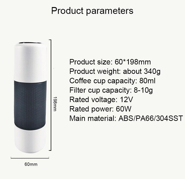 Cápsulas de Café Portátil Carro USB Copo