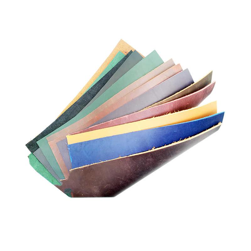 Preço de venda crazy horse pele couro 2.0mm vegetal curtido couro cera couro estilo retro 5 tamanho 6 cor disponível