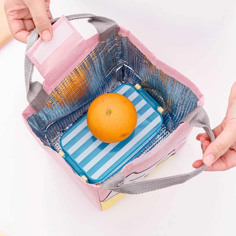 Draagbare Rooster Patroon Lunch Tas Voor Vrouwen Kinderen Mannen Geïsoleerde Canvas Doos Draagtas Thermische Koeler Voedsel Zak
