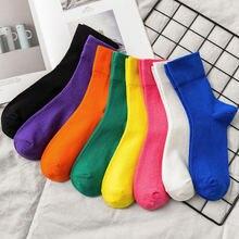 Женские носки 1 пара корейский конфетных оттенков; Сезон осень