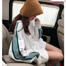 Женский белый топ с капюшоном Новинка осени 2020 Корейская версия