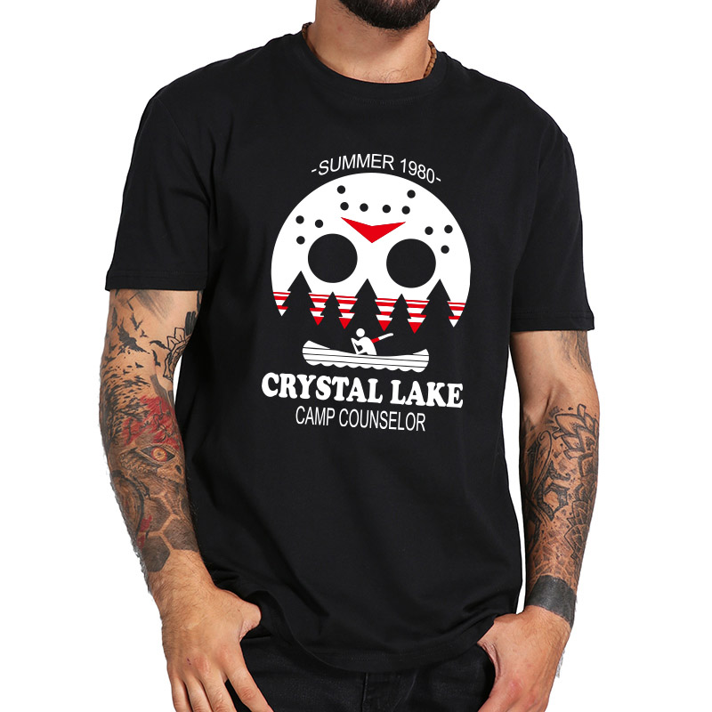 Friday The 13Th T Shirt Jason Horror Movie 100% Cotton Eu Size High Quality Tshirt Crystal Lake Camp Counselor Shirt image
