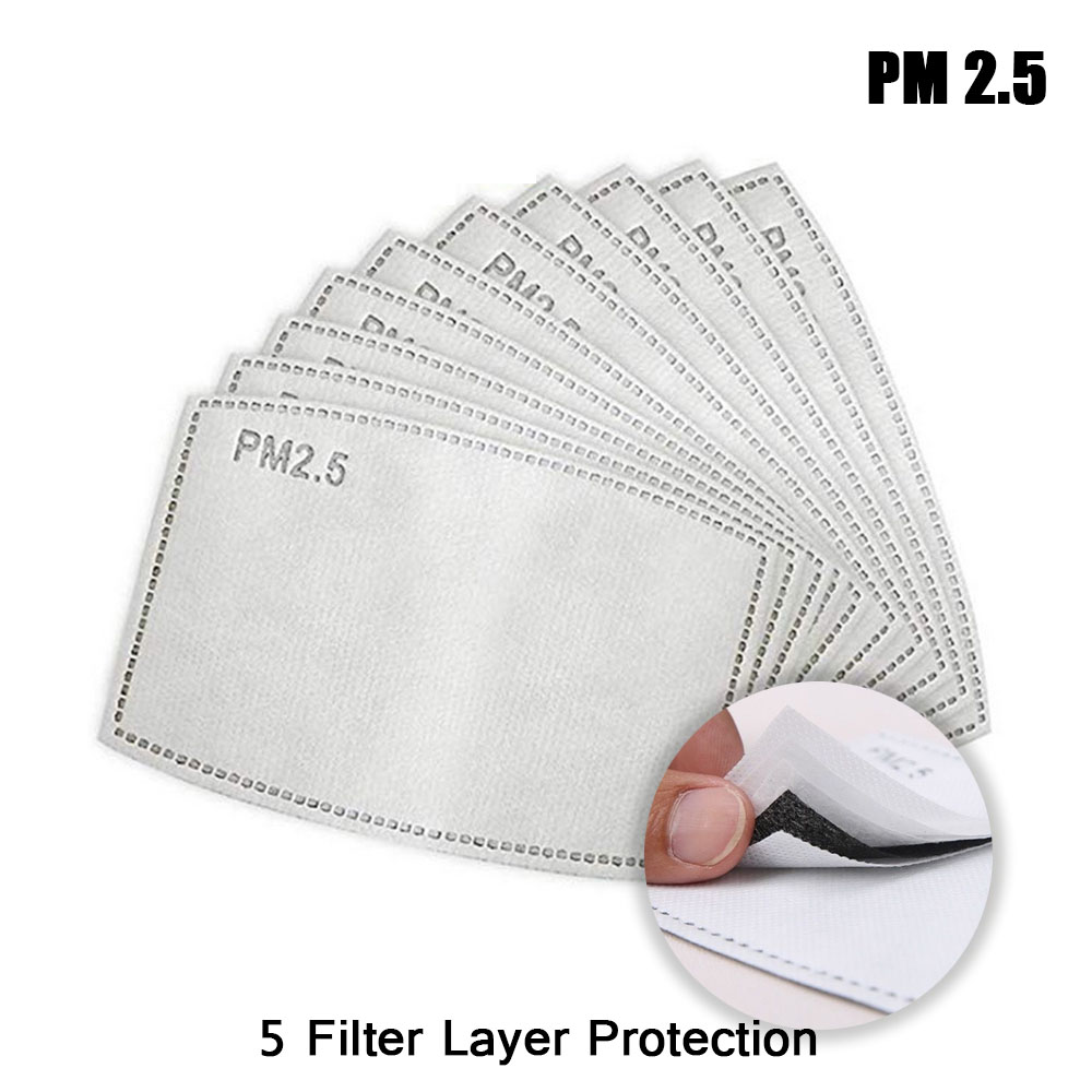 10 PCS/20 PCS/50PCS Face Mask Filters 5 Layers Of Filtering