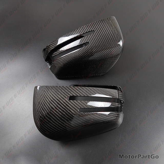 Real Crabon Fiber Mirror Cover Exchange original 1 pair for Mercedes Benz ML Class W166 GL GLS X166 GLE W166 4
