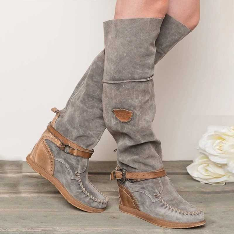 MoneRffiรองเท้าผู้หญิง 2020 แฟชั่นรองเท้าส้นสูงรองเท้าผู้หญิงเข่าผู้หญิงรองเท้าบูทFringeรองเท้าHeel Tasselรองเท้า