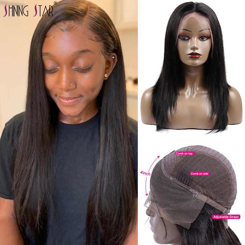 13*4 парики из натуральных волос на кружеве, прямые предварительно выщипанные волосы, кружевные передние парики, Детские волосы без клея, парики из бразильских волос 100% remy
