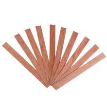 20 piezas-Vela de madera de 8/10/12/12/5mm, mecha con pestaña de soporte, núcleo de mecha para la fabricación de velas, suministro de cera de soja Parffin