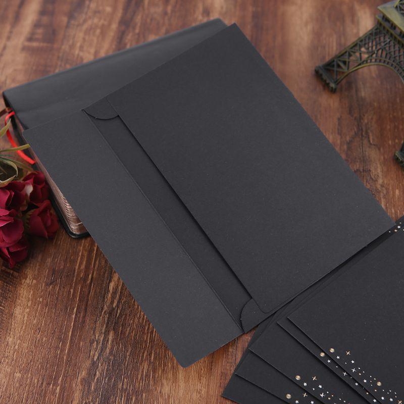 6pcs/pack Starry Sky Writing Letter Envelope Romantic Creative Small Fresh Japanese Style Letter Bag