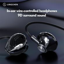 Licheers 9D Stereo In-ear Earphone Wire-controlled Sound Earpiece Earbuds For Xiaomi