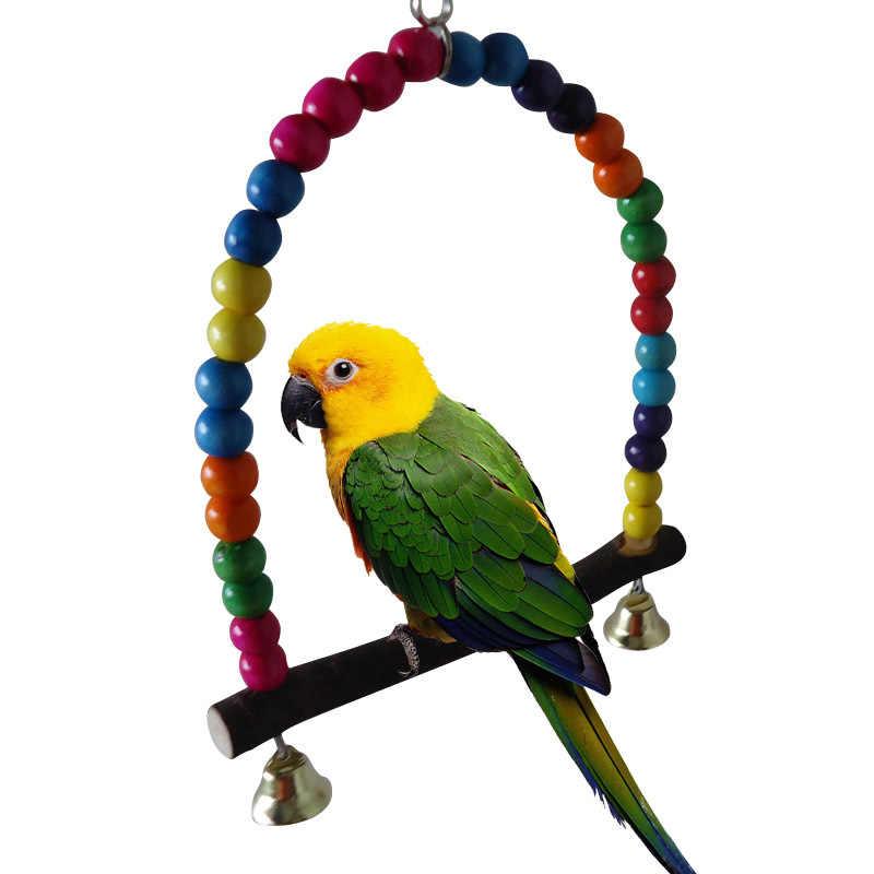 الطيور الببغاء سوينغ أجراس اللعب ببغاء كوكاتيل Lovebird الببغاء الحيوانات الصغيرة عالية الجودة