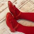 2019 Осенняя испанская кожаная обувь Туфли с бабочками туфли принцессы для девочек качественная Милая обувь детская кожаная обувь