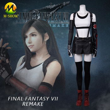Final Fantasy VII Remakes Tifa Lockhart Cosplay Costume Hot Game FF7 Tifa Outfit Halloween Costumes for Girls Women Custom Made