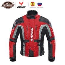 DUHAN Motorcycle Jacket Men Motocross Jacket Windproof Autumn Winter Cotton Lined Motorbike Moto Jacket Protective Gear