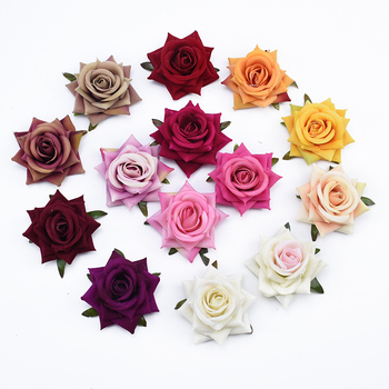 2/5/10 Pieces Silk roses scrapbooking christmas garland home decoration accessories wedding bridal clearance artificial flowers image