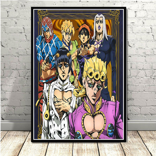 Poster And Prints JoJo s Bizarre Adventure Action Japan Anime Wall Art Paintings Canvas Wall Pictures For Living Room Home Decor 3