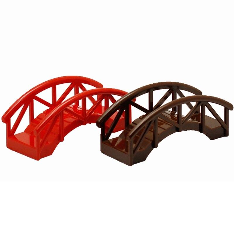 Duplo DIY Bridge Big Size MOC Single Sale Building Blocks Toys for Children Compatible Legoing Duplo Educational Baby Gifts