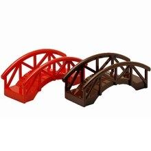 Duplo DIYสะพานขนาดMOCเดี่ยวขายอาคารบล็อกของเล่นเด็กใช้งานร่วมกับล็อคDuploการศึกษาเด็กของขวัญ