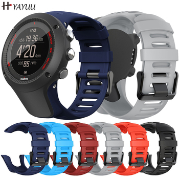 YAYUU 24mm Silicone Strap For Suunto Ambit 3 Watch Replacement Band For SUUNTO AMBIT3 Sport Watch Strap Wristband free delivery replacement sport band for suunto core rubber soft watch strap tpu wristband