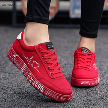 AGUTZM 2020 Fashion Women Vulcanized Shoes Sneakers Ladies Lace-up Casual Shoes Breathable Canvas Lover Shoes Graffiti Flat h36 fashion canvas shoes woman sneakers women vulcanized solid shoes ladies lace up casual shoes breathable walking canvas shoes