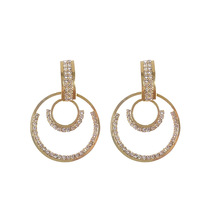 2019 S925 Silver Needle Korean Geometric Ring Earrings  korean trendy fashion earrings christmas gift jewelry women