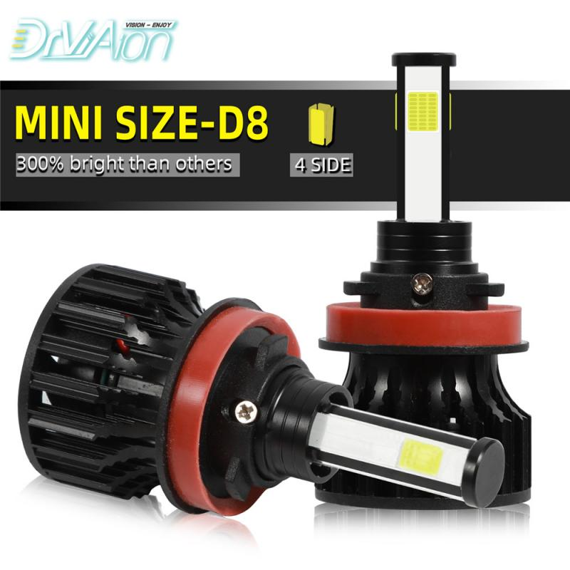 2Pcs H11/H8/H9 Led Headlight Hulbs LED Car Lights 6500 K 12000 LM 40W Auto Headlamps Xenon Replacement Quick Installation