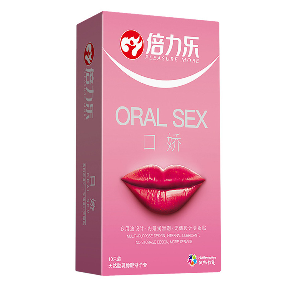 10Pcs/Box Women Mouth Oral Sex Condom Penis Sleeve Oral Sex Blowjob Natural Latex Condoms For Adults Sex Toys Smooth Peach Tast