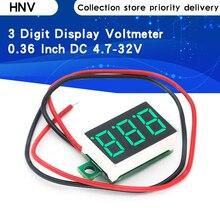 0,36 дюйм постоянный ток 4,7-32 В 2 провода мини цифра дисплей вольтметр мини светодиод цифровой панель вольт напряжение метр инструмент автомобиль 12 В 24 В